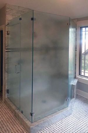 Flower mound shower doors