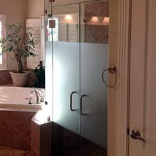 EF01 Custom Etched Glass Shower Door Dallas