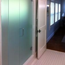 EF06 Custom Frosted Glass Inline Shower Doors Dallas