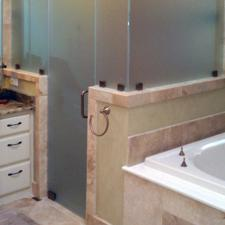 EF07 Custom Frosted Glass Shower Enclosure Dallas
