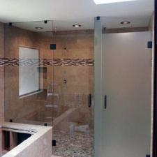 Shower door specialty glass 03 frameless etched dallas