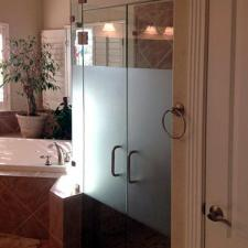 Shower door specialty glass 06 frameless etched dallas